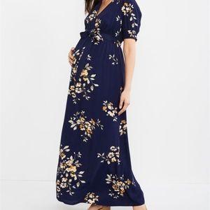 Motherhood Maternity | Floral Wrap Maxi dress